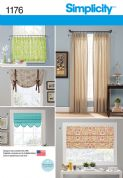 1176 Simplicity Pattern: Window Treatments